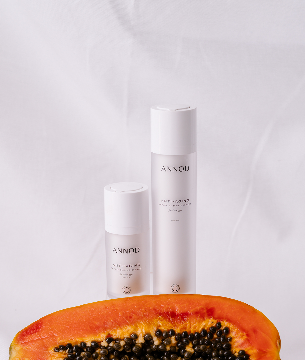 A set consisting a 30 ml and 100ml of Anti-Aging Papaya Enzyme extract with natural Papaya ingredient
