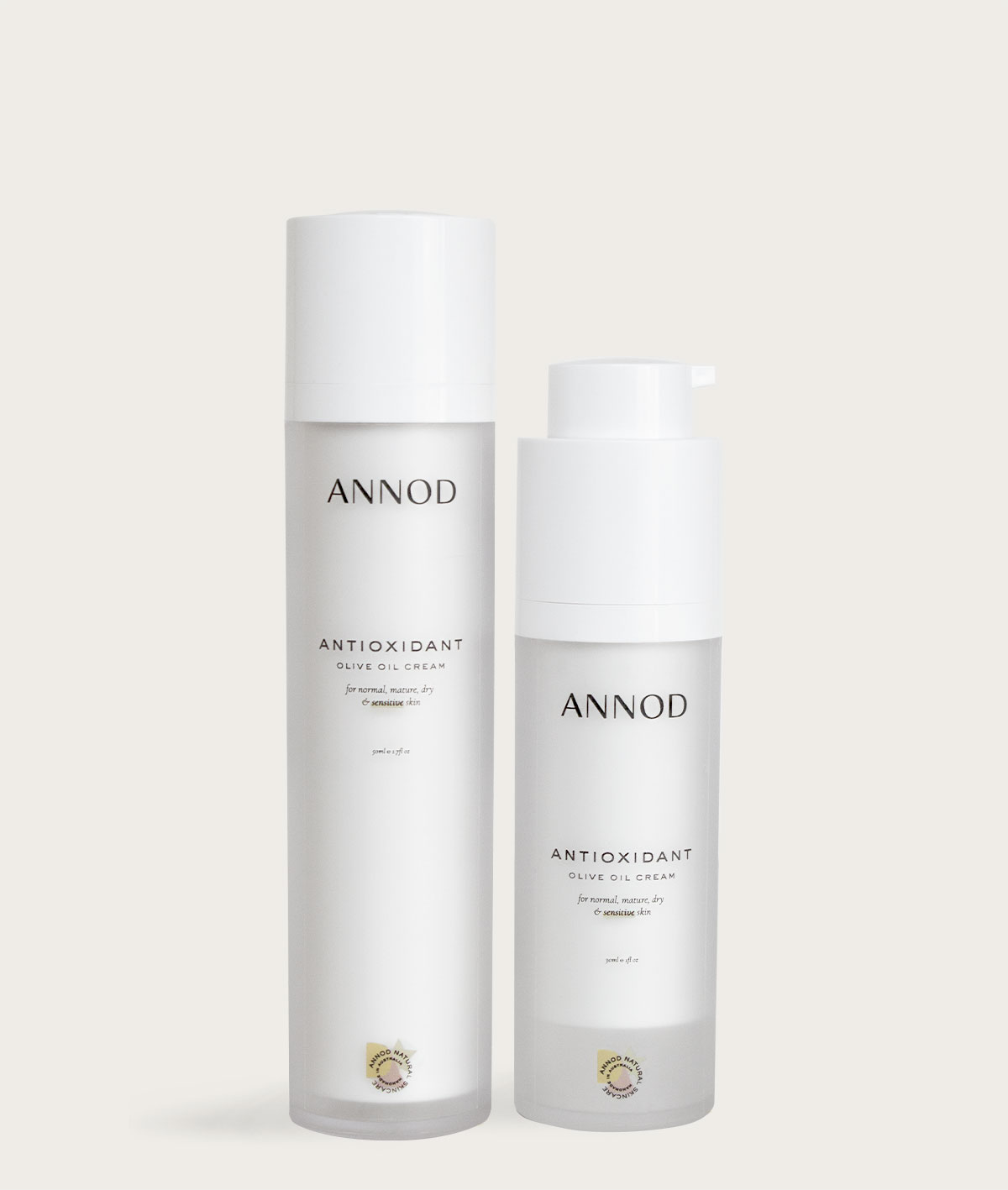 A set of Antioxidant Olive Oil cream, 50ml and 30ml