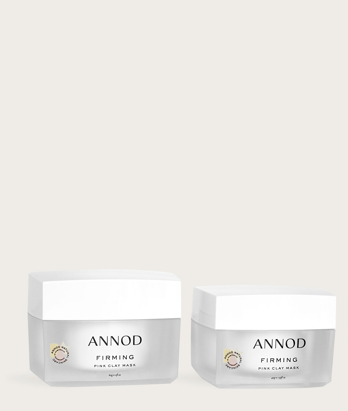 A set of Firming Pink Clay Mask 60g and 40g